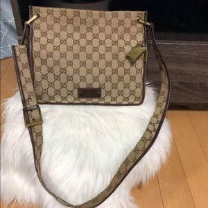 GUCCI CANVAS CROSSBODY BAG